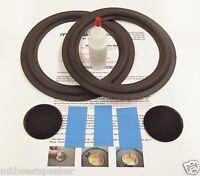 Advent 6.5 Woofer Refoam Kit For Model 1002 Speaker W/ Shims & Dust Caps