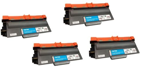 4 pack Brother Compatible TN750 TN720 Black Toner Cartridge