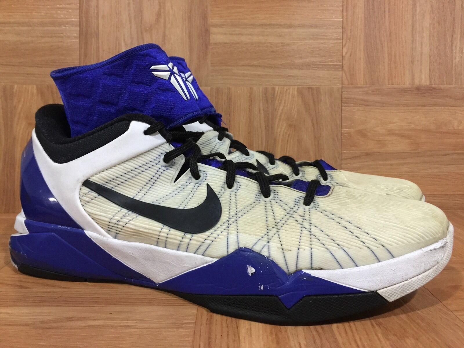RARE  Nike Zoom Kobe 7 488244-100 VII System 488244-100 7 Purple Concord Black White Size 13 4908dc