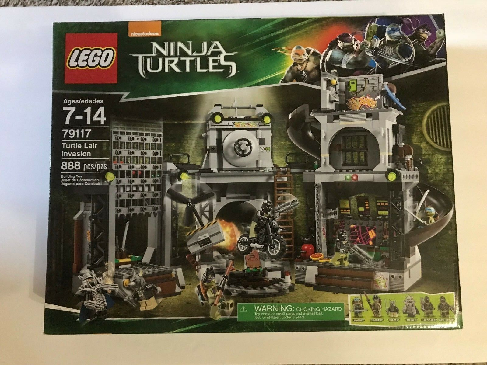 LEGO Ninja Turtles 79117 Turtle Lair Invasion BRAND NEW SEALED