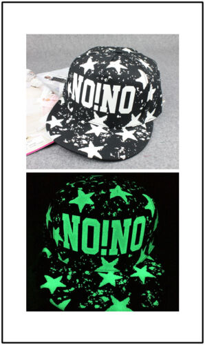 Novelty Luminous Fluorescent Baseball Cap Glow In The Dark Snapback Hip-hop Cap