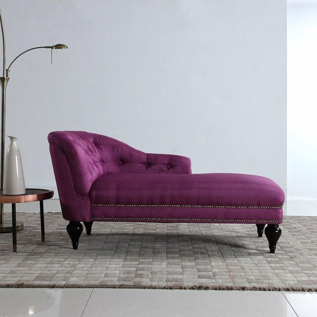 Modern Small Space Chaise Lounge For Living Room Bedroom Office Rose Red