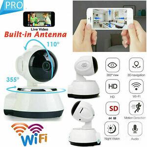 HD 720P Wireless Wifi IP Kamera WLAN Nachtsicht Überwachungskamera Webcam Camera
