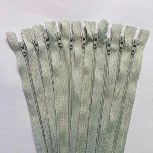 Nylon Coil Zipper Customized Rare Color Craftsman 10pcs 30-60cm 12-24inch