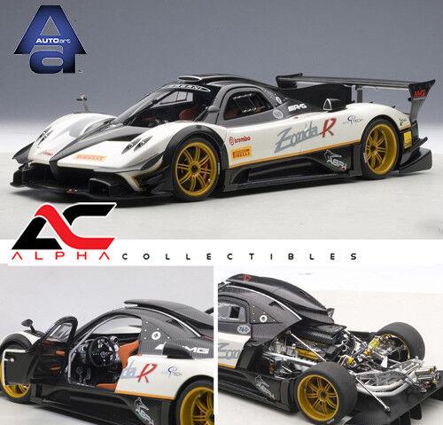 Autoart 78271 1:18 Pagani Zonda R Evo (carbono fiberBlanco) supercoche Diecast