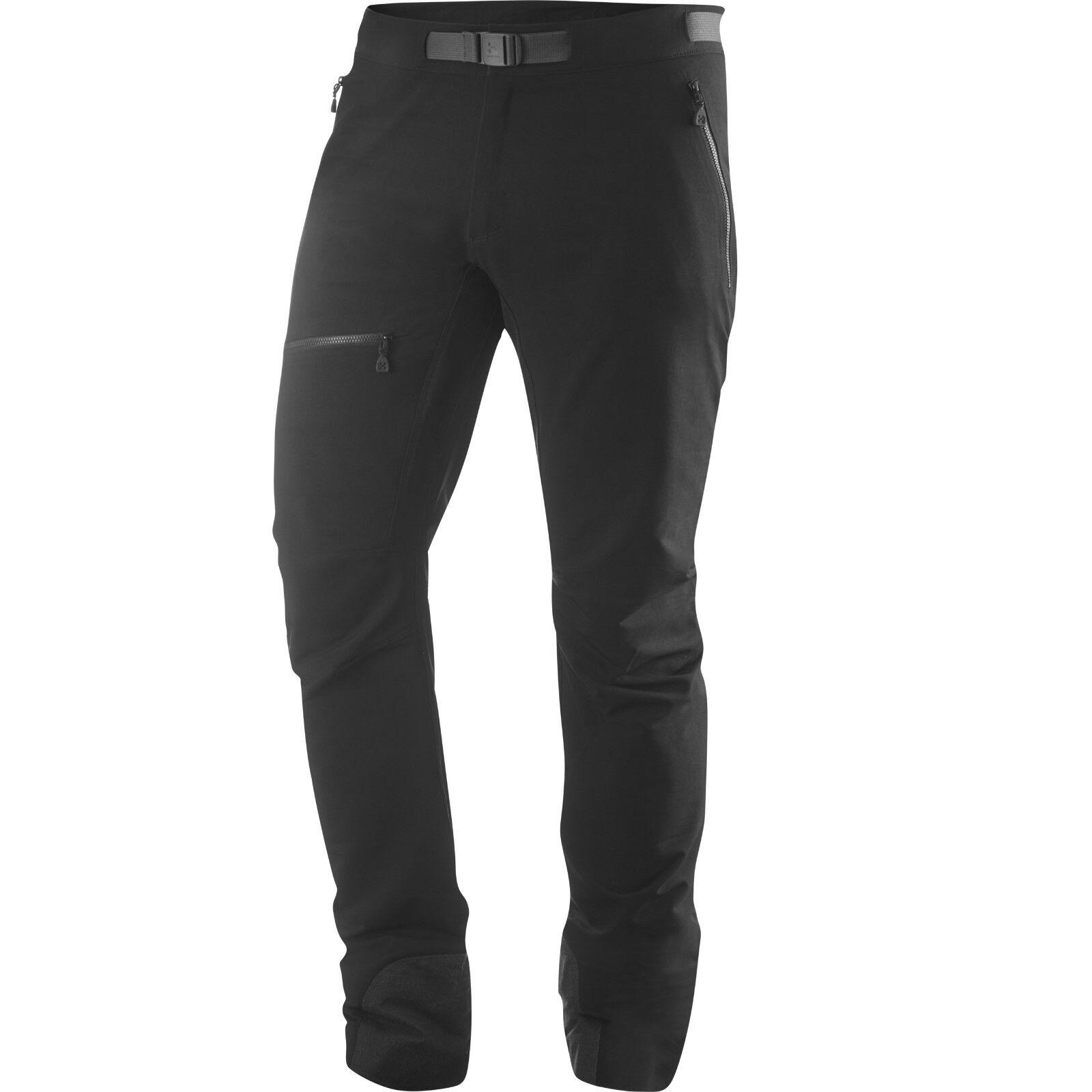 Haglöfs Skarn Winter Pant, warme Herren-Softshellhose, schwarz