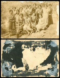 Philippines-1926-Manila-Carnival-Group-Of-National-Beauties-at-Montalban-RPPC