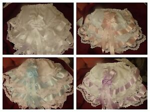 DREAM GIRLS ROMANY VARIOUS HEARTS  FRILLY KNICKERS PINK PEACH LILAC RED