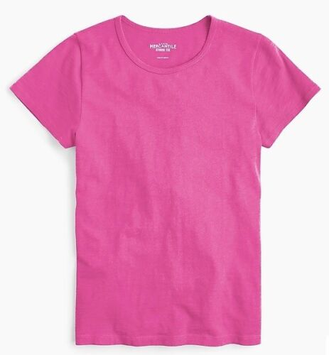 J Crew Studio T Shirt Womens Size MEDIUM Fuchsia Pink MSRP 29.50