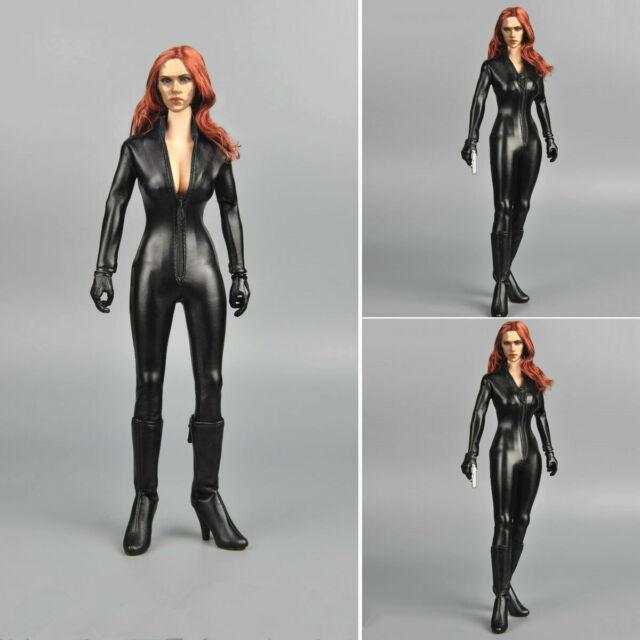 KUMIK K300-3 1/6 Batman Catwoman Black Suit Head Body Full