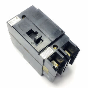 SQUARE D TYPE FA 20A 60HZ 480VAC 250VDC CIRCUIT BREAKER FA24020AB