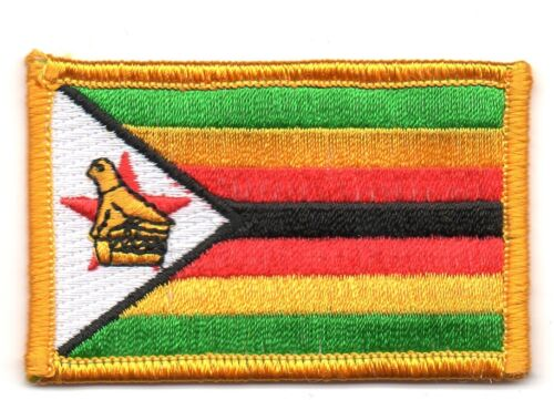 ZIMBABWE FLAG PATCH PATCHES BADGE IRON ON NEW EMBROIDERED