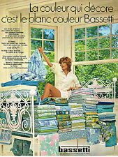 PUBLICITE ADVERTISING 024   1970   BASSETTI   draps linge de maison