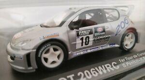 1-43-PEUGEOT-206-WRC-TOUR-DE-CORSE-2000-G-PANIZZI-H-PANIZZI-COCHE-METAL-ESCALA