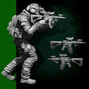 1-35-YUFAN-Resin-Soldat-US-Seal-Attack-Team-Figur-Modell-Kit-DIY-Assembly-Satz