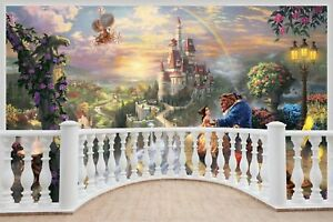 Huge-3D-Balcony-Fantasy-Castle-Princess-Prince-Wall-Stickers-938