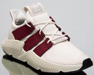 c7daa6be7928 Image is loading adidas-Originals-Prophere-Men-Sneakers-Cloud-White-Maroon-