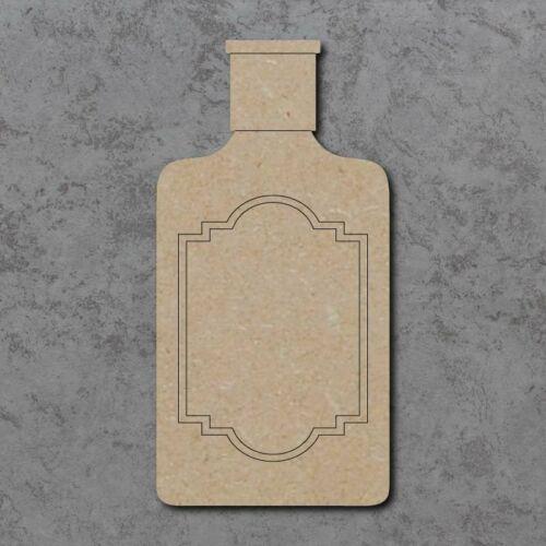 Gran Corte Láser De Madera Mdf Botella De Ginebra Artesanía forma Placa Sin Pintar 20,30 40cm