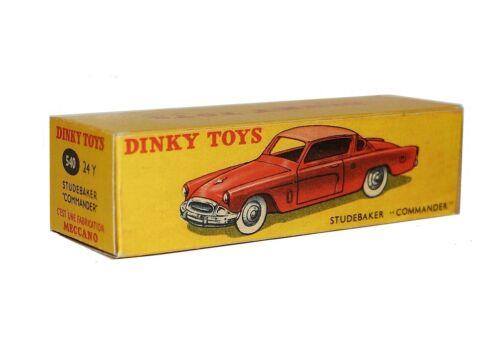 Dinky Toys boîte repro 24Y 540 studebaker commander 3ieme version