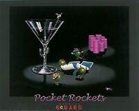 Michael Godard-pocket Rockets Gambling-texas Hold Em-poker-las Vegas-poster