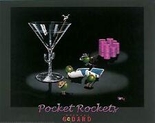 "Michael Godard ""POCKET ROCKETS"" Gambling-Texas Hold Em-Poker-Las Vegas-Poster"