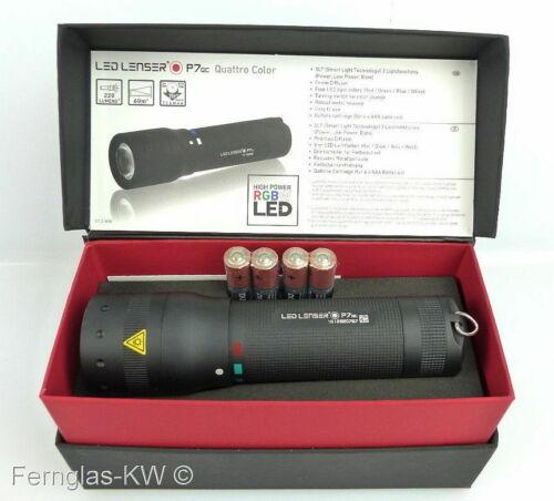Schlaufe und Batterien Ledlenser Taschenlampe P7 QC Geschenk BOX mit Tasche