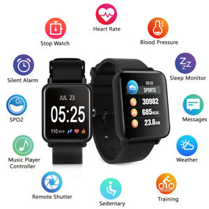sport uhr smartwatch fitness armband tracker pulsuhr aktivit tstracker blutdruck ebay. Black Bedroom Furniture Sets. Home Design Ideas