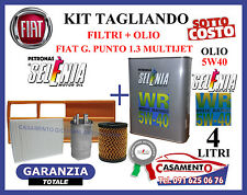 KIT TAGLIANDO FIAT GRANDE PUNTO 1.3 MULTIJET 66KW FILTRI + OLIO SELENIA WR 5W40