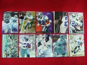 EMMITT-SMITH-10-DIFF-FOOTBALL-CARDS-DALLAS-COWBOYS-MUST-SEE-GREAT-CONDITION
