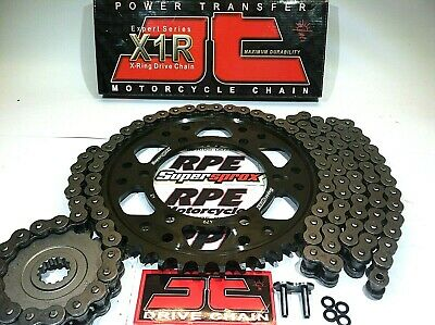 CBR600RR /'03-06 GOLD DID X-Ring /& SUPERSPROX QUICK ACCEL CHAIN AND SPROCKETS KIT