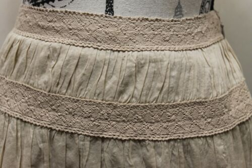 cotone Skirt floreale Crochet Boho People In Beaded 28 marrone 2 Sz Free 100 qIwU7SxznB