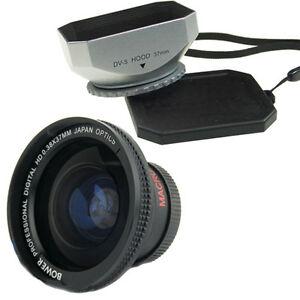 Bower-37mm-0-38x-Wide-Angle-Lens-Hood-for-Canon-Vixia-HF100-HF11-HFM32-HFM31-30