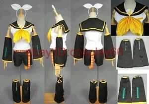 Vocaloid Kagamine Rin Cosplay Costume any size