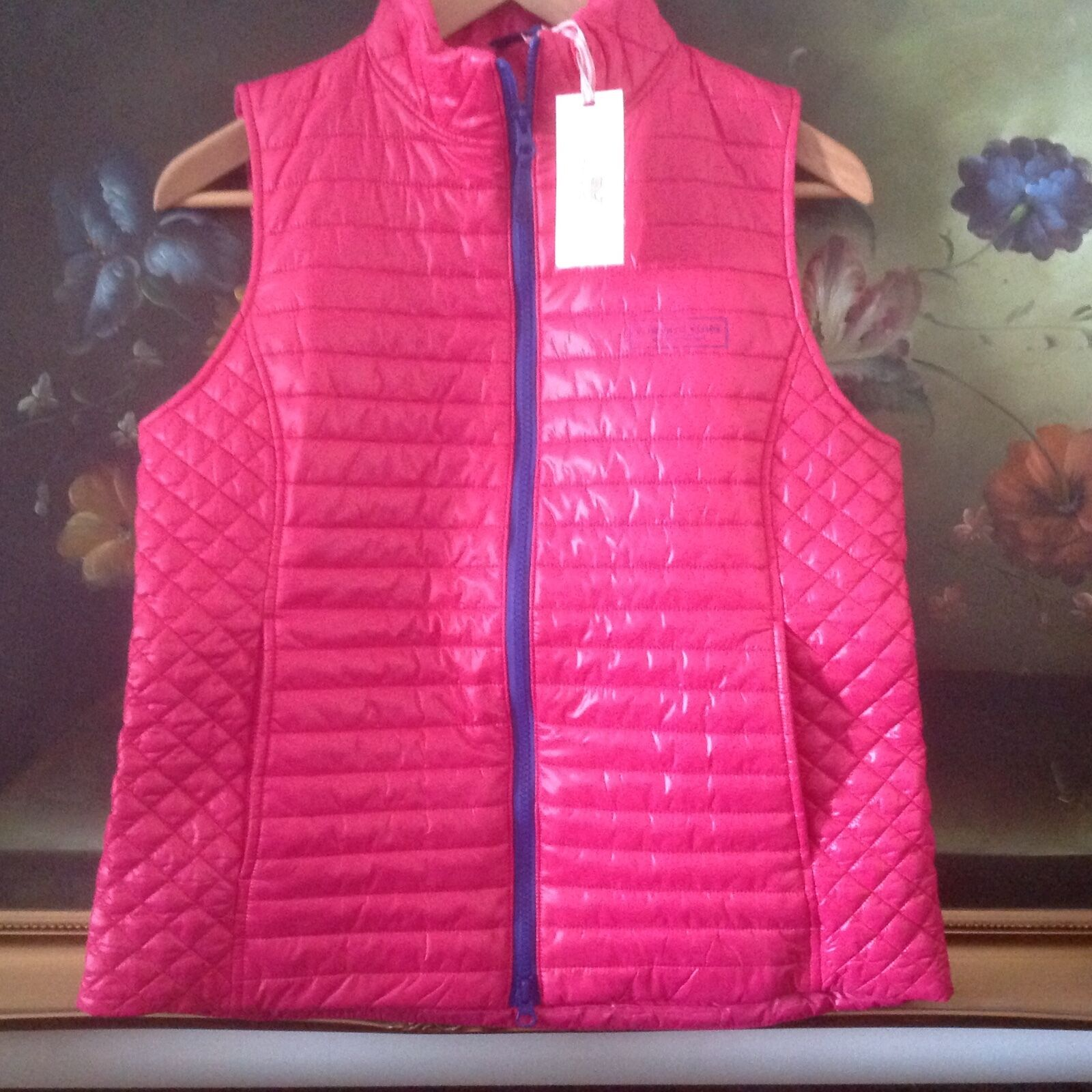 NWT VINEYARD VINES WOMEN'S weekend Puffer Vest pink SIZE S D5