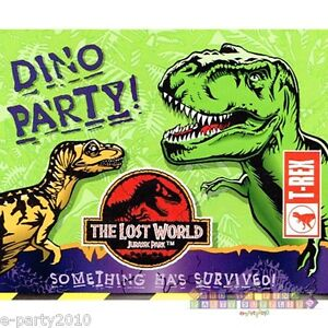 Open Package Jurassic Park Lost World Invitations 8 Birthday