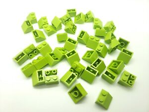 Lego-brick 6x slope inverted brick slope 45 2x2 lime green//lime 3660 new
