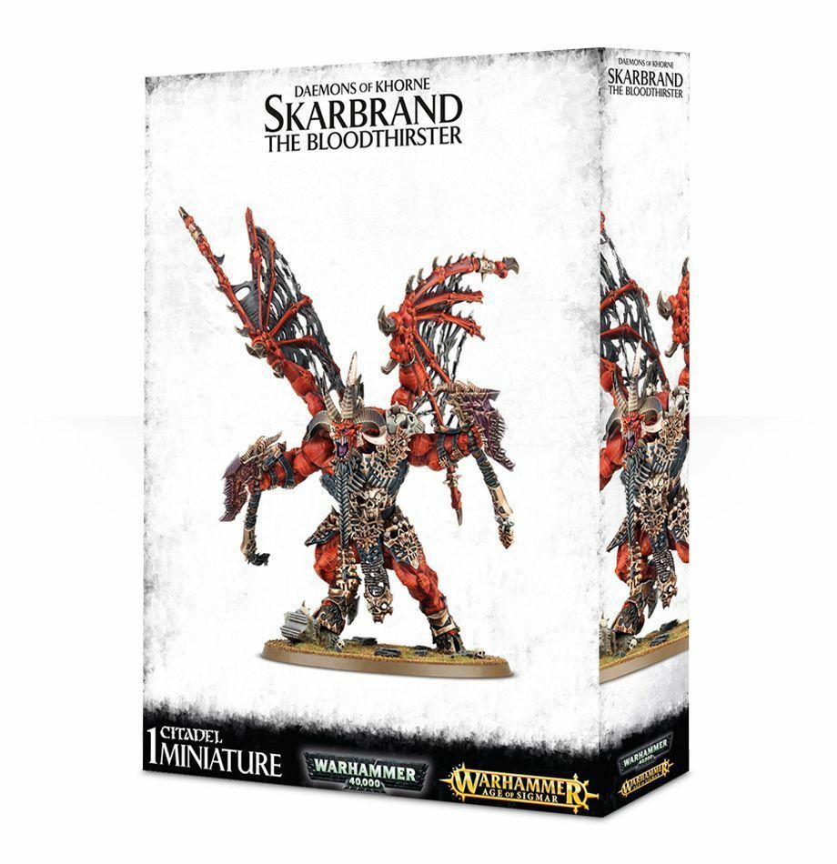 Skarbrand The Bloodthirster demonios de Khorne Warhammer 40K edad de Sigmar Nuevo En Caja