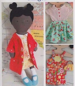 PATTERN-Ginger-fabulous-cloth-doll-amp-wardrobe-PATTERN-Ric-Rac