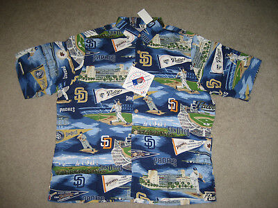 Clothing, Shoes & Accessories San Diego Padres Classic 'padres Pride' Hawaiian Shirt Reyn Spooner Large Nwt!!! Sports Mem, Cards & Fan Shop