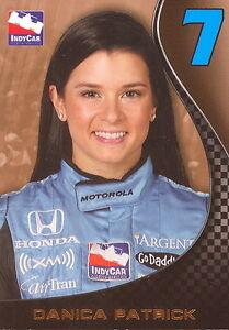 NASCAR RITTENHOUSE 2007 INDY CAR SERIES DANICA PATRICK PROMO CARD P1