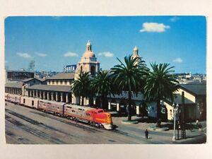 Santa-Fe-Train-Station-Depot-San-Diego-California-Broadway-Chrome-Postcard