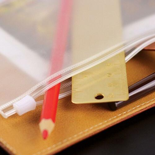 5 Stk A5//A6//A7 Transparent.Zip Lock Umschlag Binder Pocket Refill Organizer~
