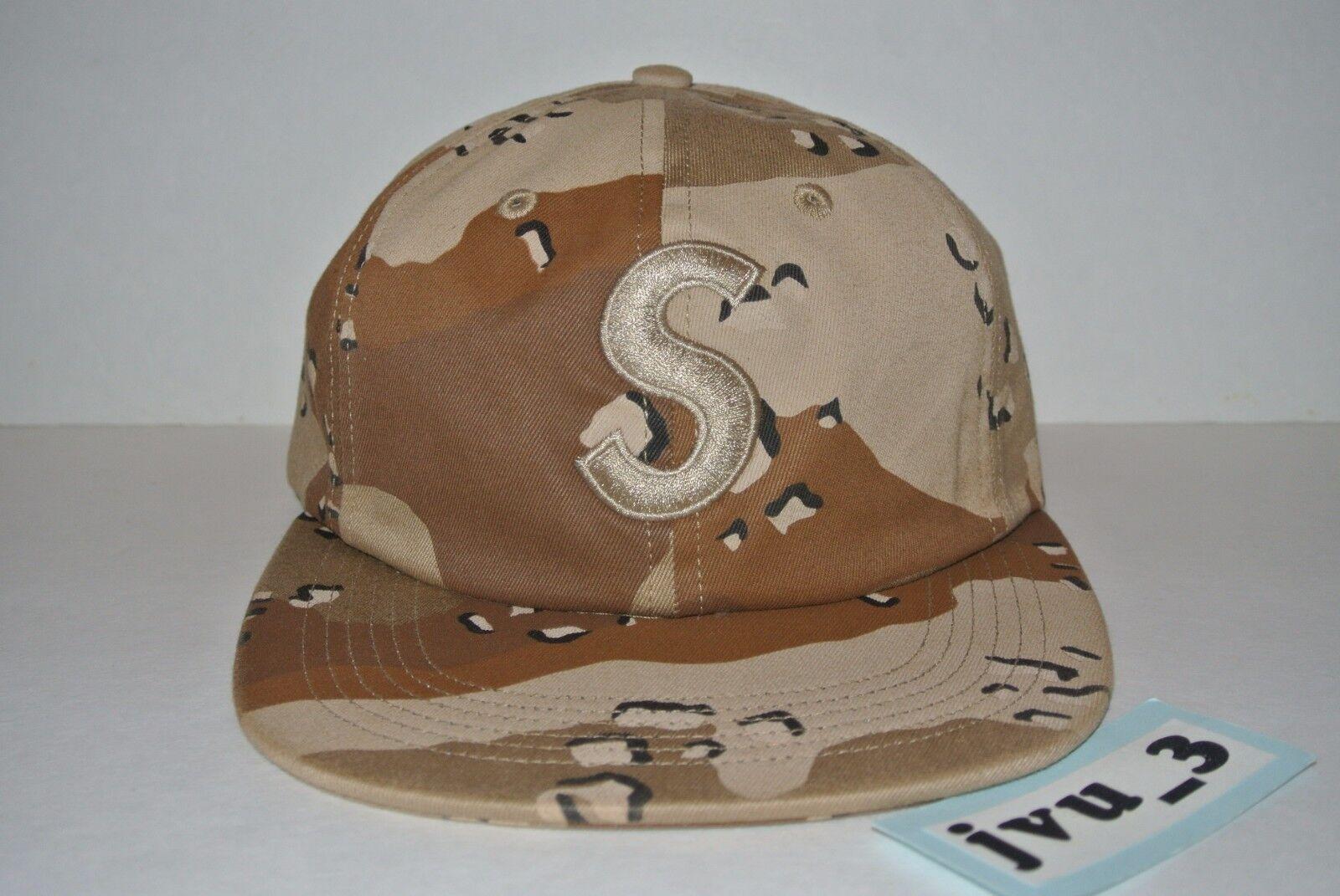 3cceb06cc1e Supreme Tonal S Logo 6 Panel Desert Camoflauge Camo Cap Hat Fw17 ...