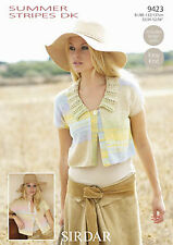 Sirdar 8138 Knitting Pattern Womens Cardigans in Sirdar Summer Linen DK