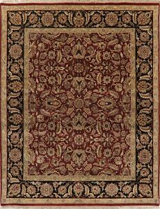 Agra Area Rug Wool Hand Knotted Oriental All Over Floral Carpet 8
