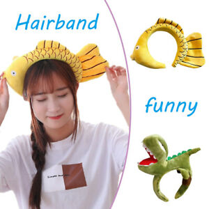 Korean Accessories Shark Dinosaur Headband Fish Funny Face Wash Hair Bands