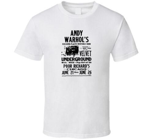 Andy Warhol Velvet Underground tee black white tshirt men/'s free shipping