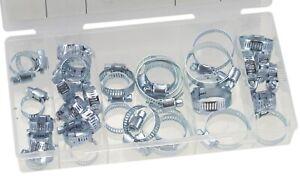 Schlauchklemmen-Schlauchschellen-Sortiment-verzinkt-40-teilig-6-38-mm-Set-102407