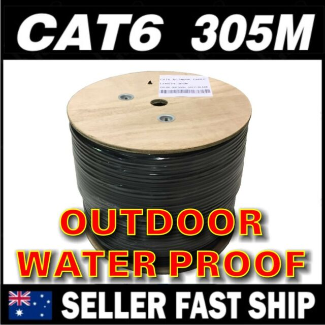 305m Black Cat 6 Outdoor External GEL FILLED Industrial Use  Network Cable