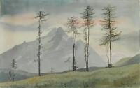 Aquarell,Gebirgslandschaft,Sign.: Schmiett,1945